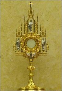 The Blessed Sacrament in a monstrance