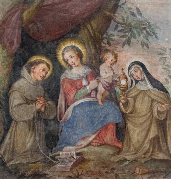 Our Lady, the Eucharist, St. Francis, St. Clare
