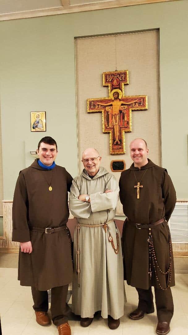 Three Franciscans--Two Knights and Fr. Mariusz